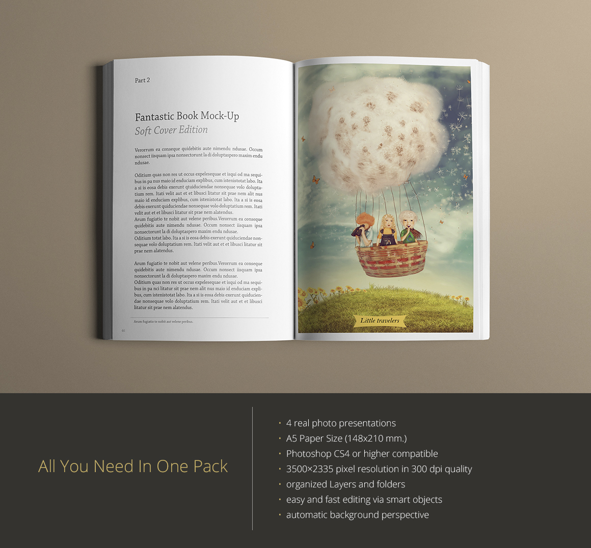 Vintage Soft Cover Book Mock Up : Book mock up soft cover edition product mockups on