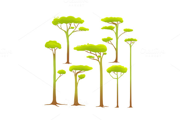 Africa Cartoon Drawing Cartoon Trees Collection