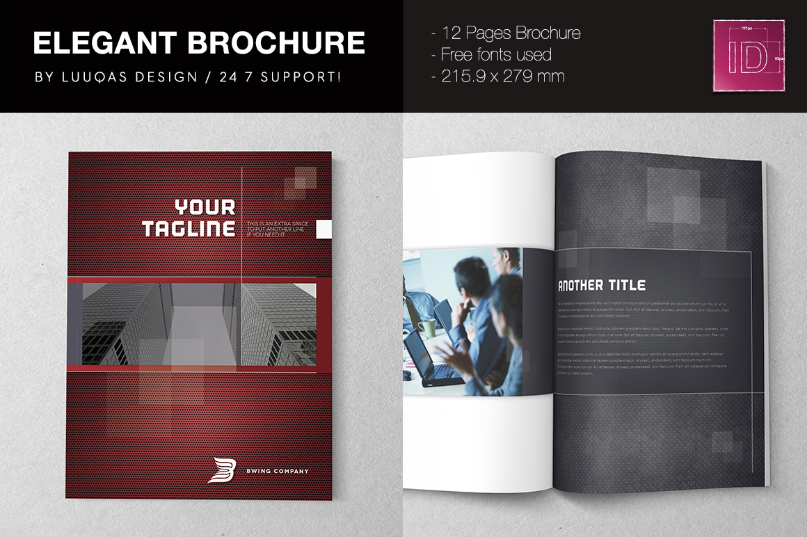 Elegant brochure template brochure templates on creative for Elegant brochure templates