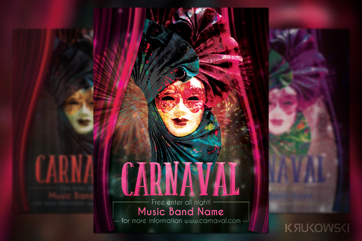 Carnaval Event Flyer ~ Templates on Creative Market