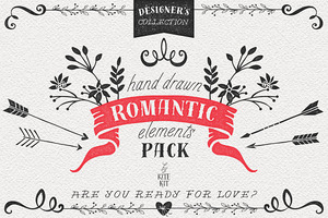 Hand Drawn Romantic Decoration Pack