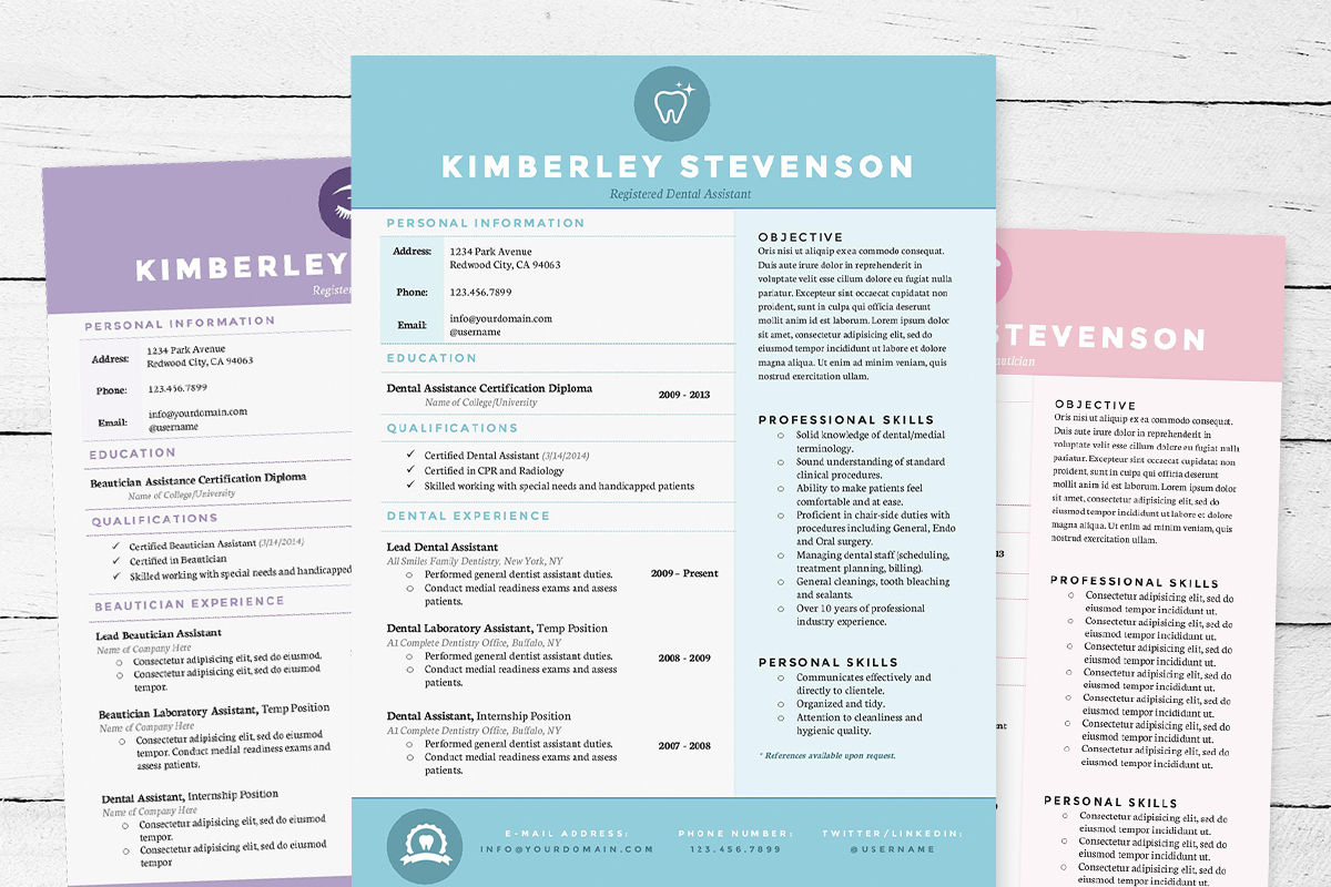 resume 3pk template package resume templates on creative