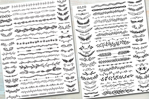 Hand Drawn Text Dividers Amp Laurels Illustrations On