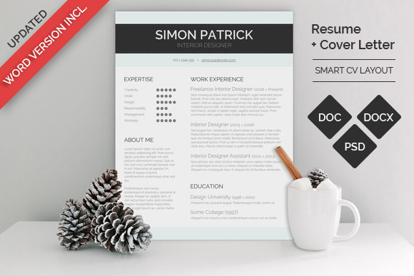 smart word cv cover letter resume templates on