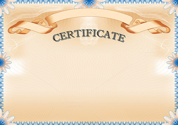 Vintage Certificate With Ribbon Stationery Templates On