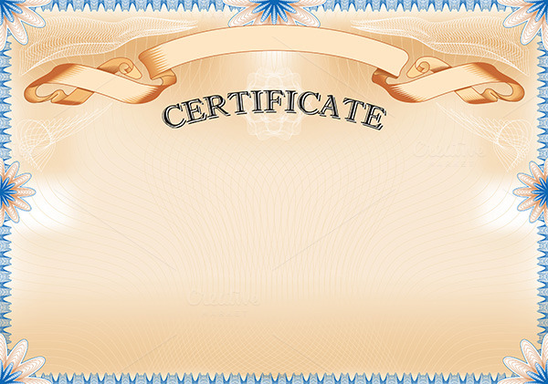 Vintage certificate with ribbon stationery templates on for Diploma of landscape design