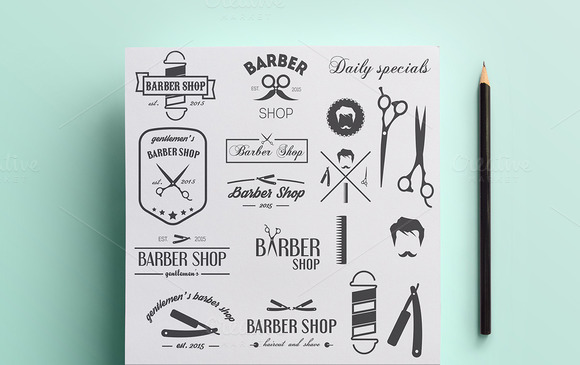 Collection Of Barber Shop Logo