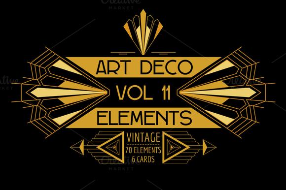 76 Art Deco Elements Vol.11 - Illustrations