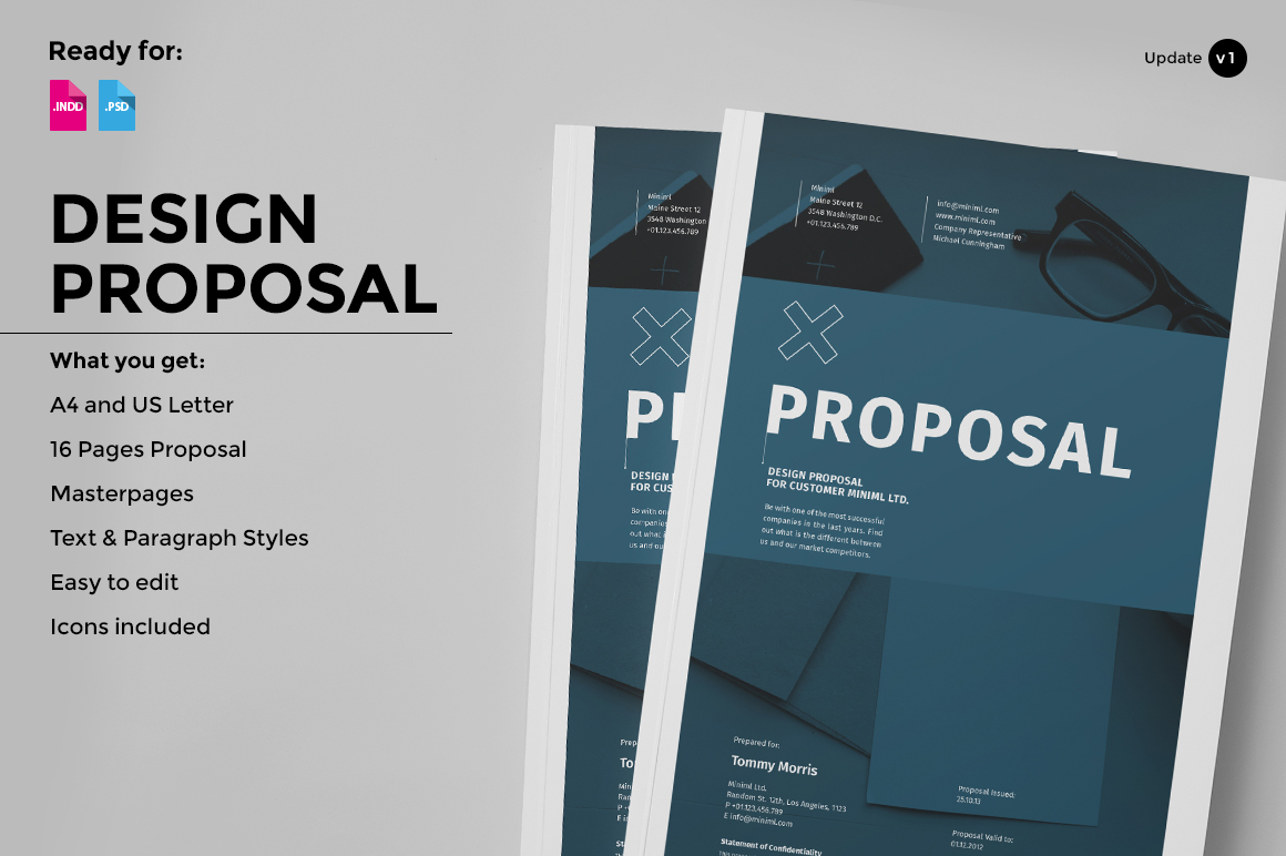 Design Proposal Brochure Templates On Creative Market
