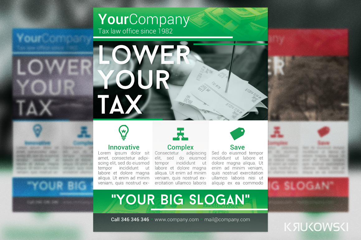 Tax office Flyer ~ Flyer Templates on Creative Market