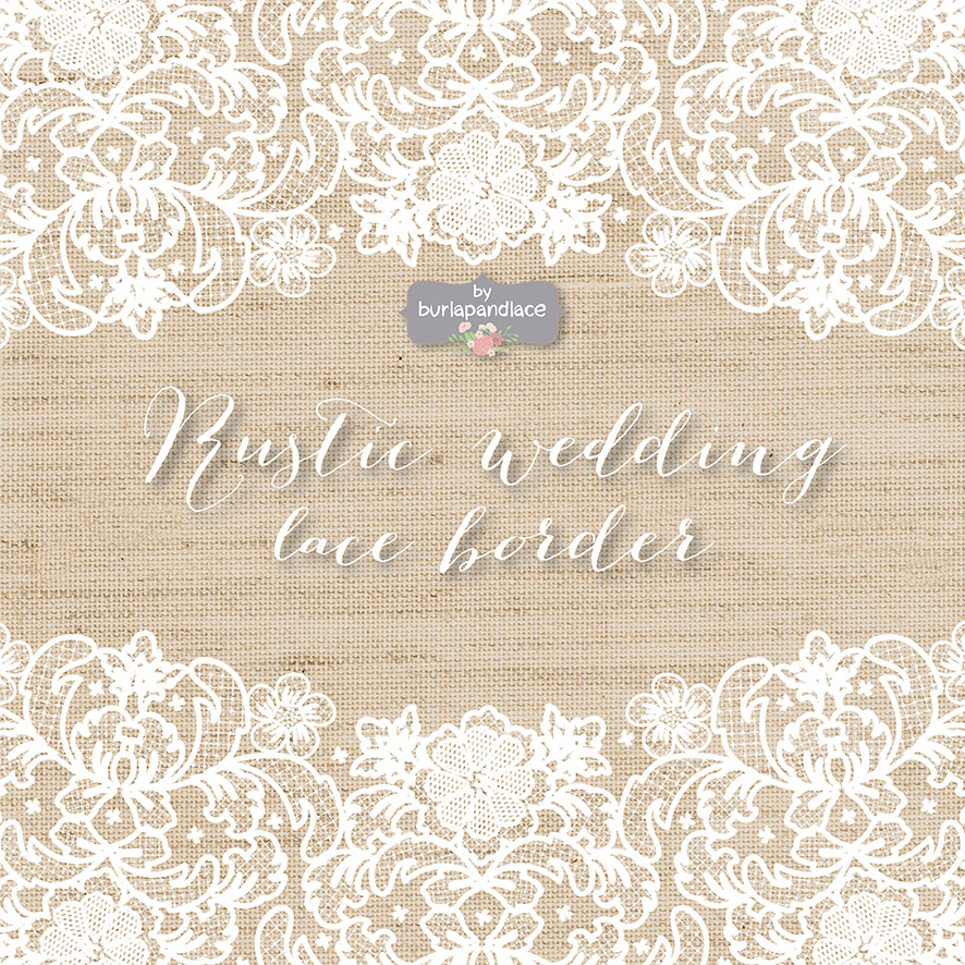 vector lace wedding border clipart illustrations on creative market. Black Bedroom Furniture Sets. Home Design Ideas