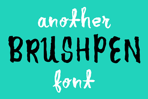 Another Brush Pen Font