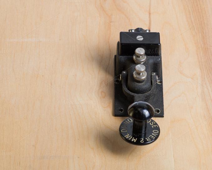 vintage telegraph key collection