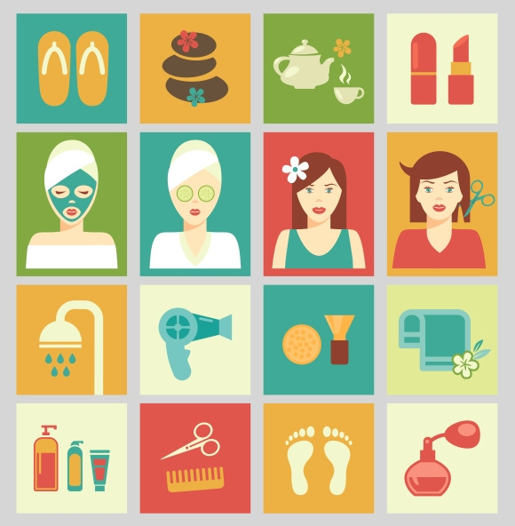 Beauty And Care Icons