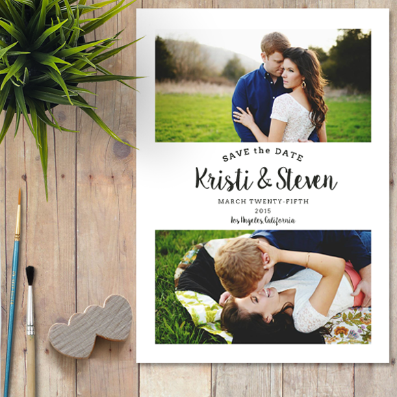 Save The Date Photoshop Template ~ Invitation Templates on