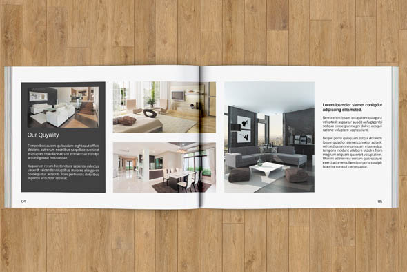 Interior brochure 12 pages v83 brochure templates on for Interior design brochure