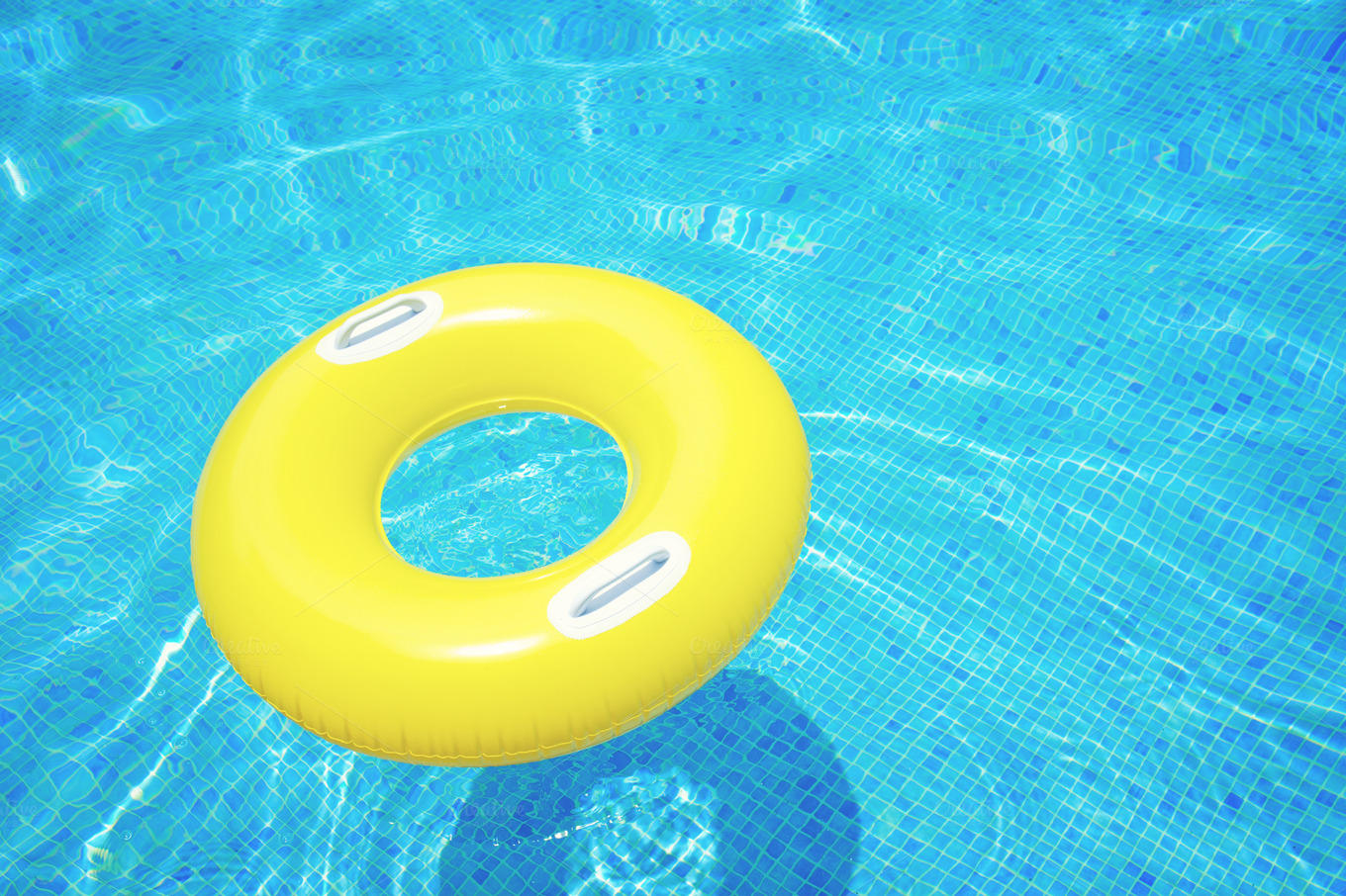 Rubber Ring In Pool Nature Photos On Creative Market