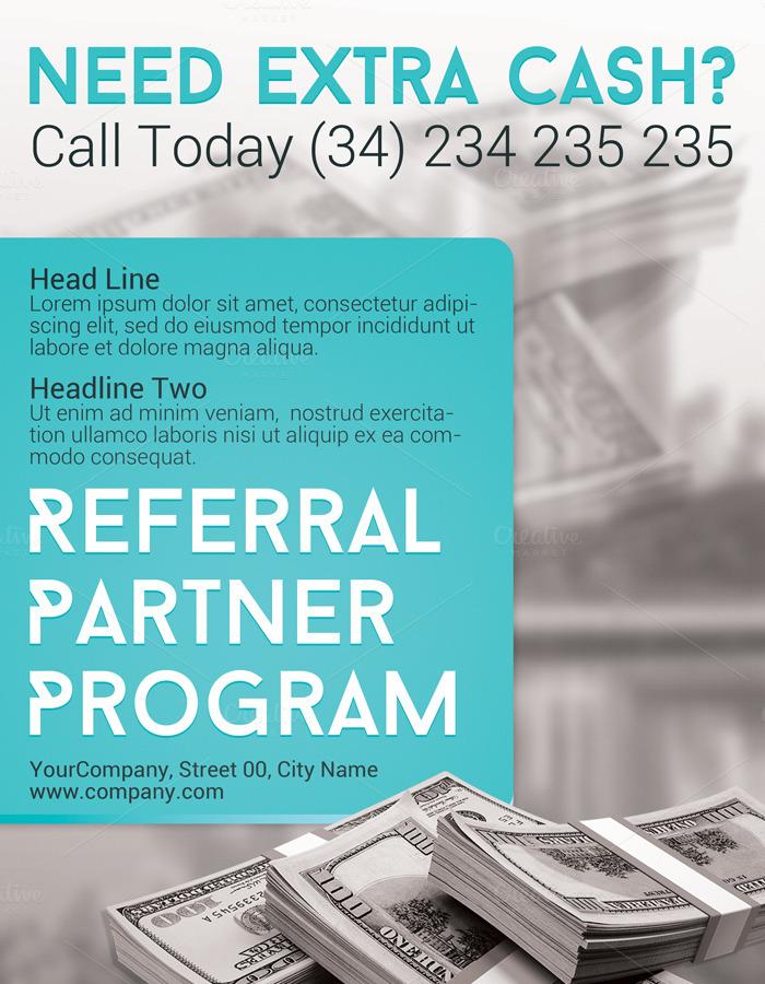 referral partner program flyer