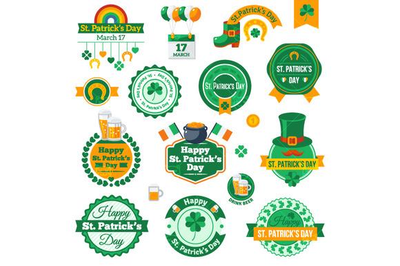 St. Patricks Day Labels - Illustrations