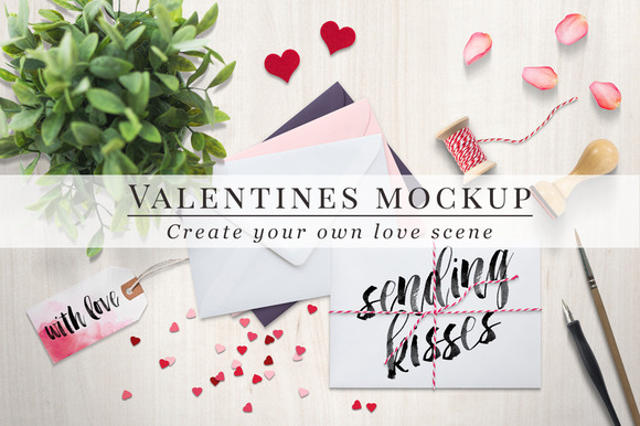 CM - Valentines mockup - envelopes 180451