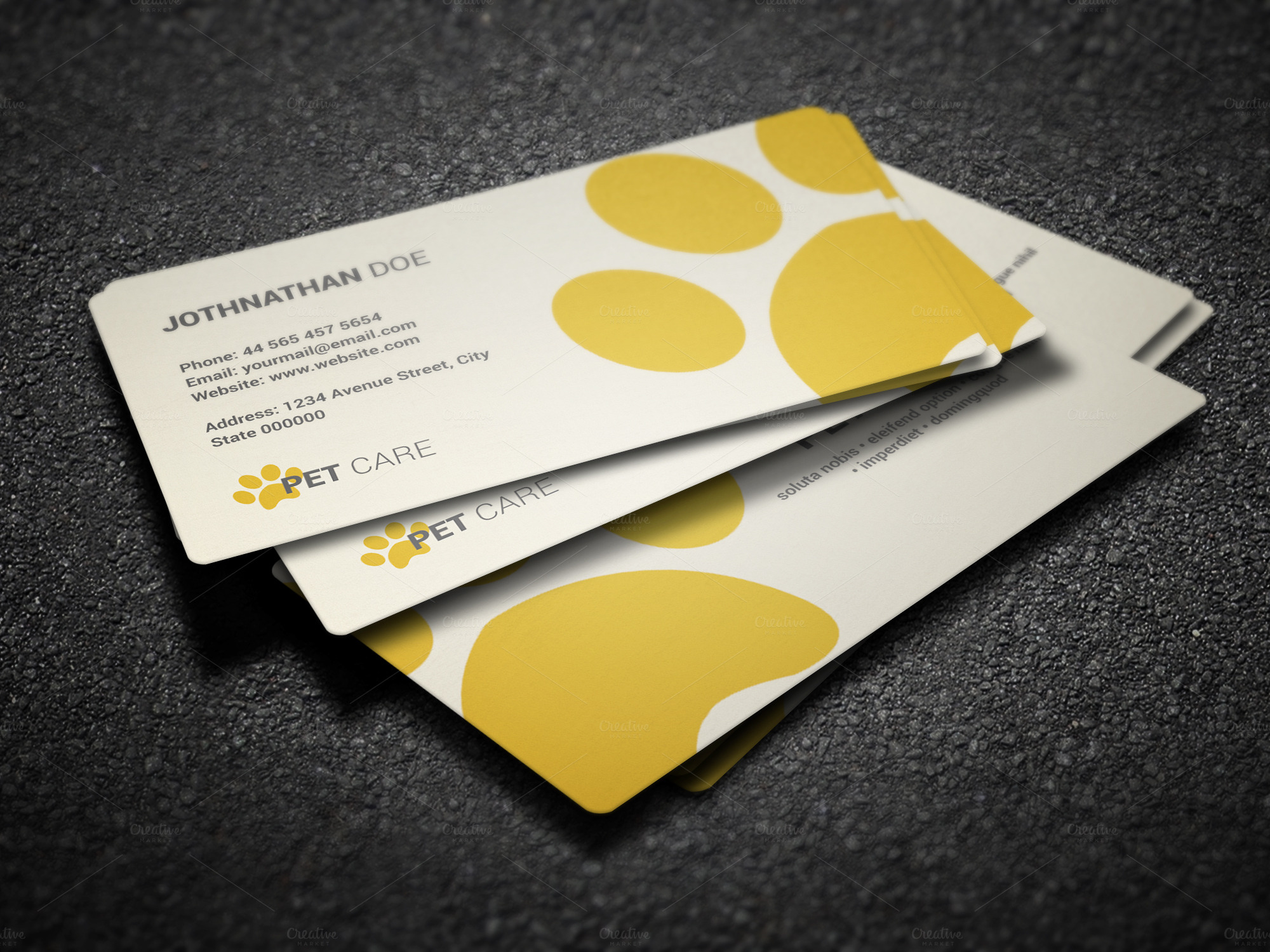 Pet care business card business card templates on for Pet store business cards