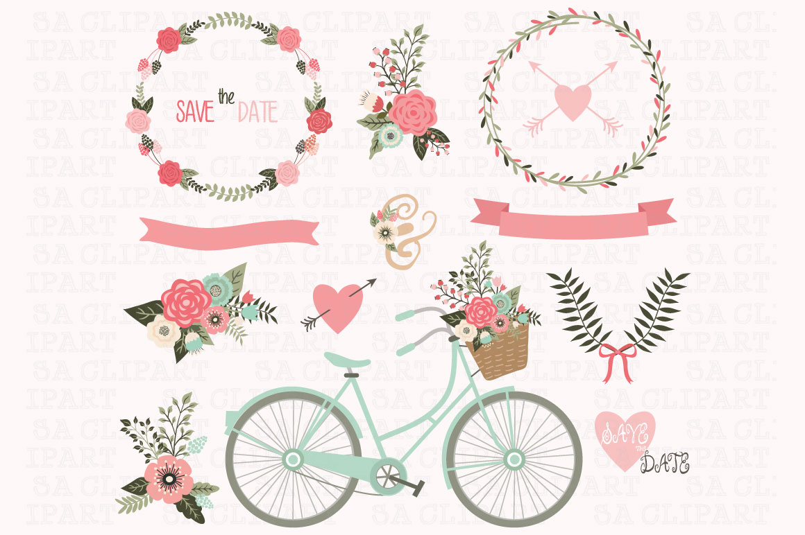 Free Clipart For Wedding Invitations: Illustrations On Creative Market
