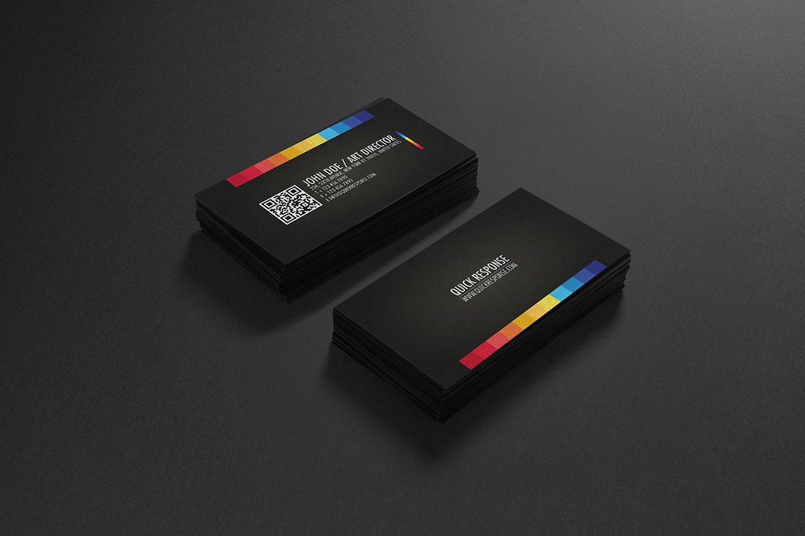 Quick response business card design Business Card