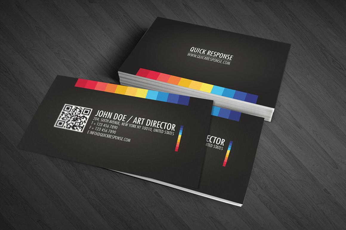 Quick response business card design Business Card
