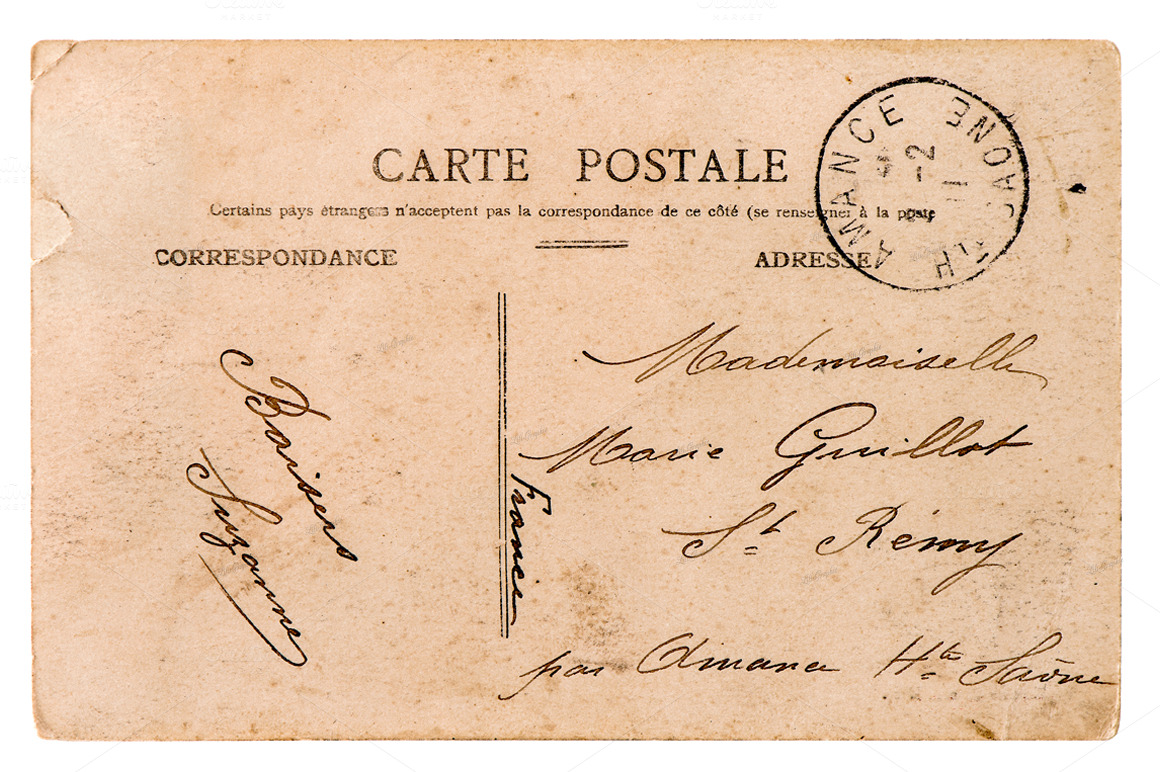 old letters french postcards - photo #18