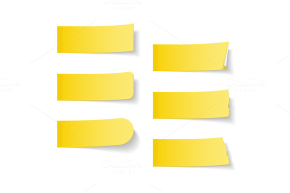 Yellow Sticky Papers