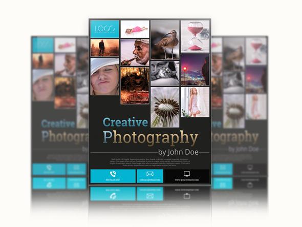 photography flyer template flyer templates on creative market. Black Bedroom Furniture Sets. Home Design Ideas