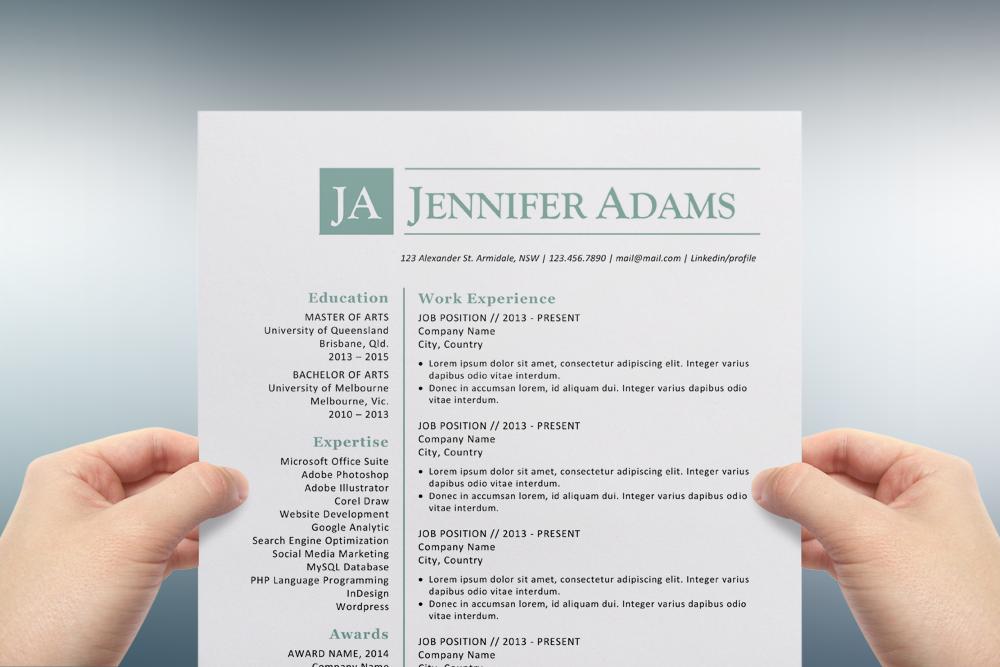 Design on resume
