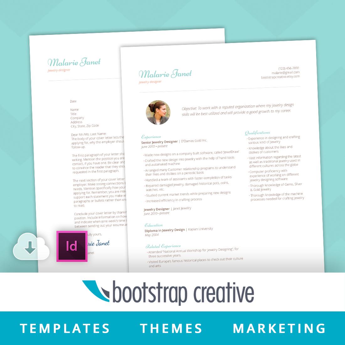 resume template indesign feminine resume templates on