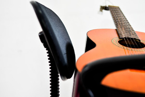 guitar and back of the chair