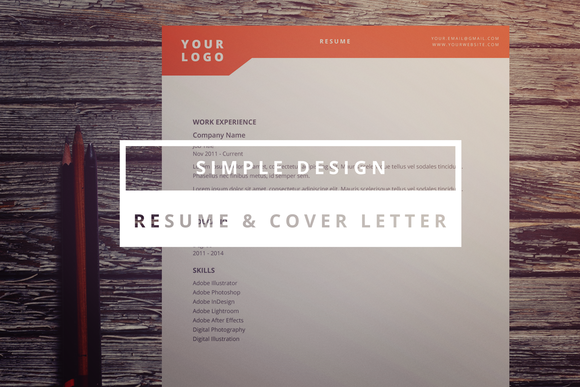 Simple design resume cover letter stationery templates on creative ma - Simple design resume ...