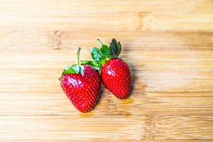 two strawberry
