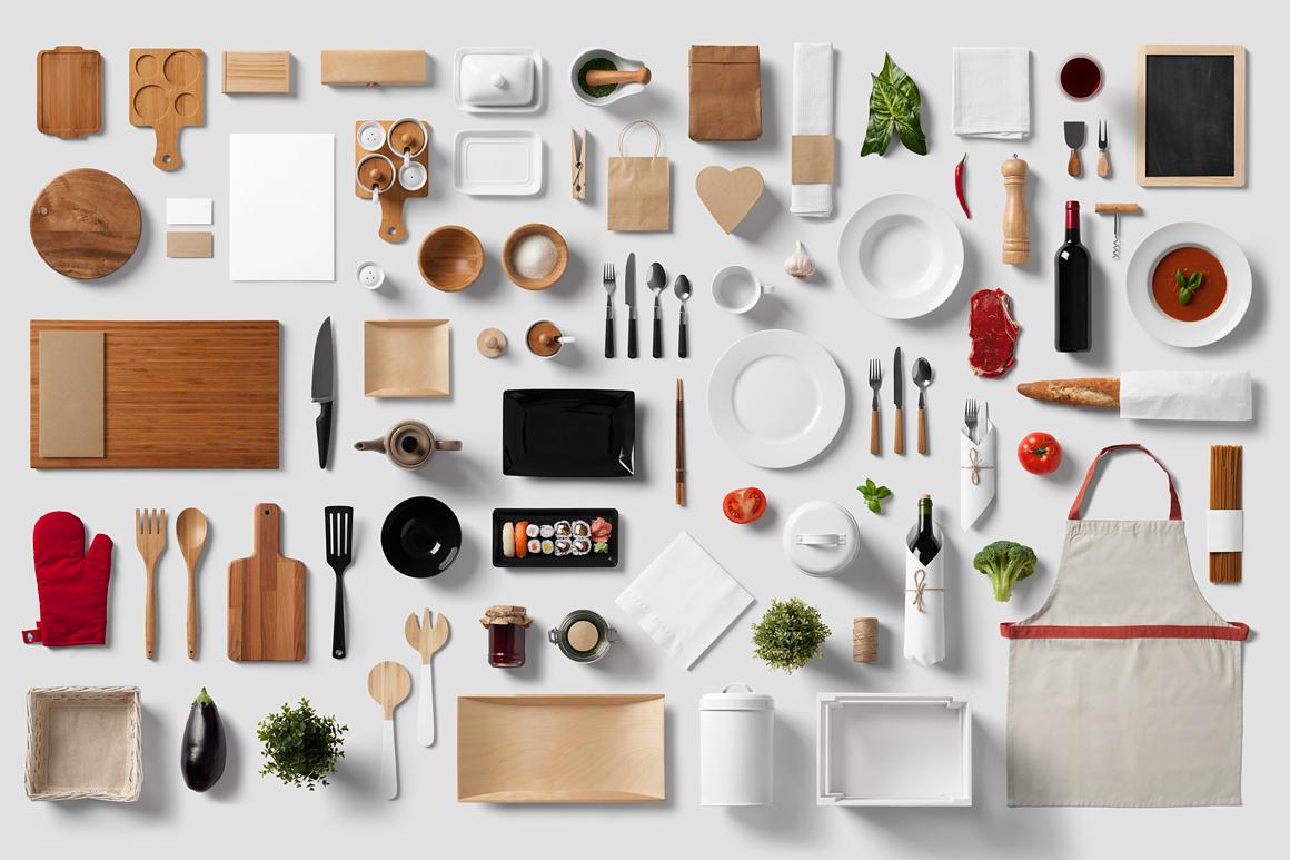Restaurant food branding mock up product mockups on for Food bar mockup