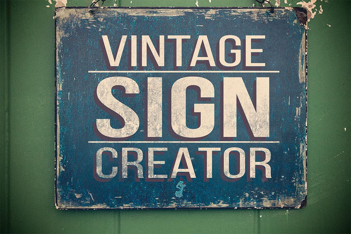 Vintage Sign Creator ~ Product Mockups on Creative Market