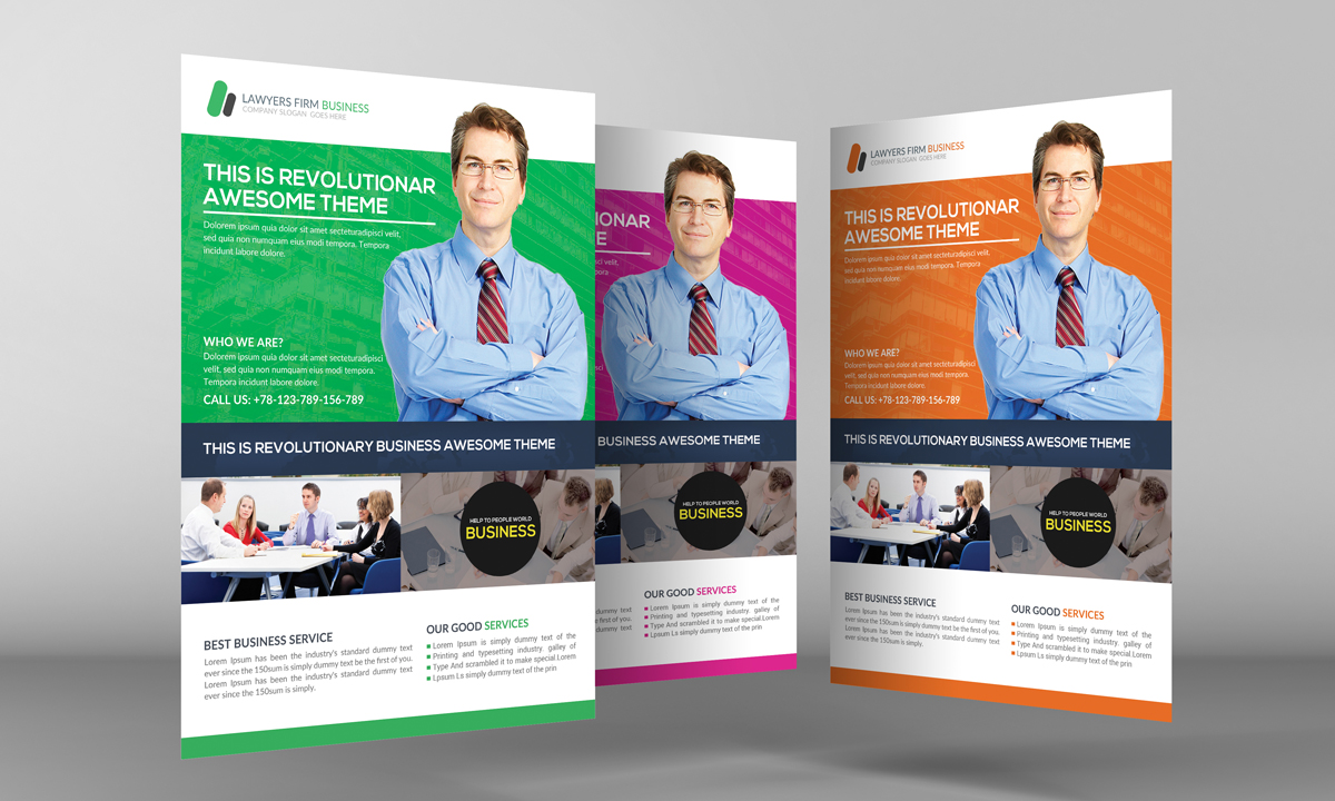 Lawyer Firm Flyer Template ~ Flyer Templates on Creative ...