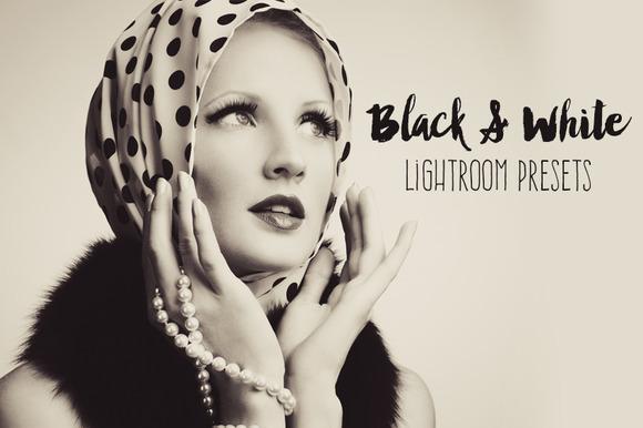 Black & White Lightroom Presets - Actions - 1