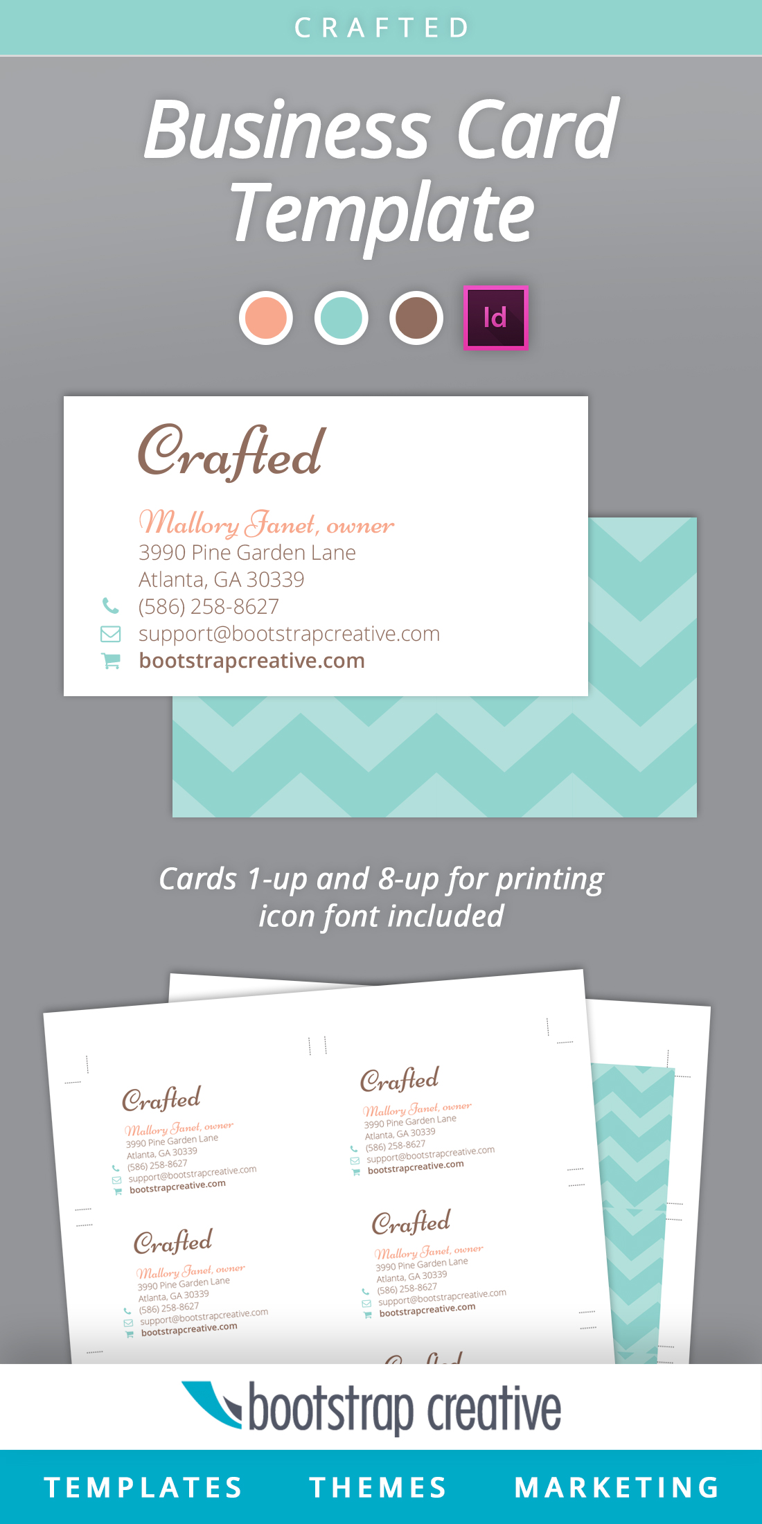 Business card indesign template business card sample business card indesign template flashek Gallery