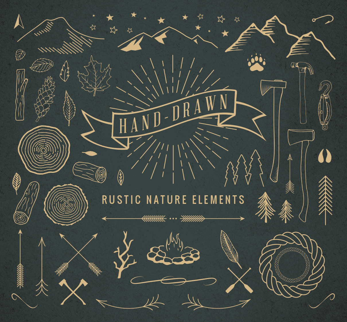 Nature Hand Drawing Hand-drawn Rustic Nature