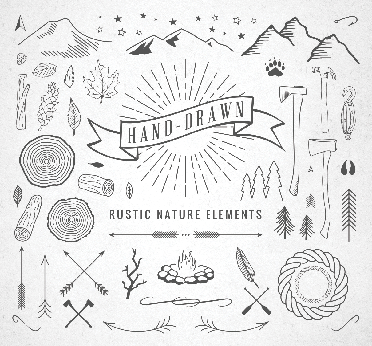 Nature Hand Drawing Hand-drawn Rustic Nature