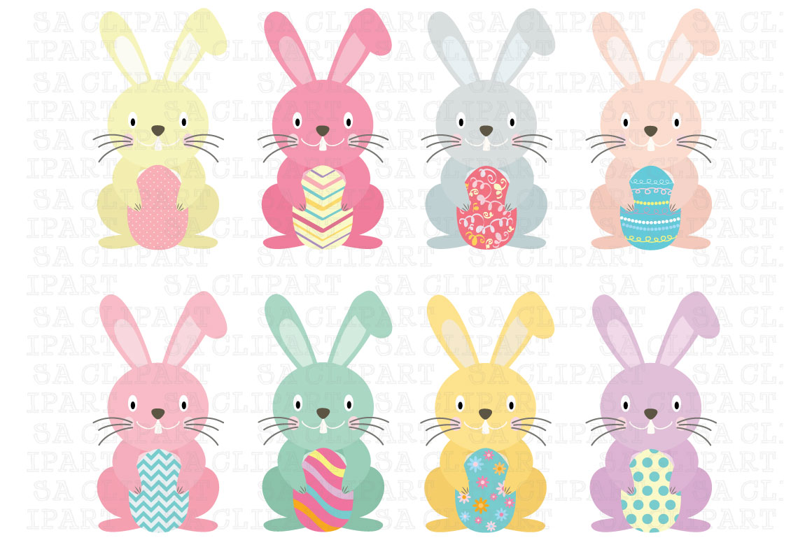 Easter Bunny Clipart ~ Illustrations on Creative Market
