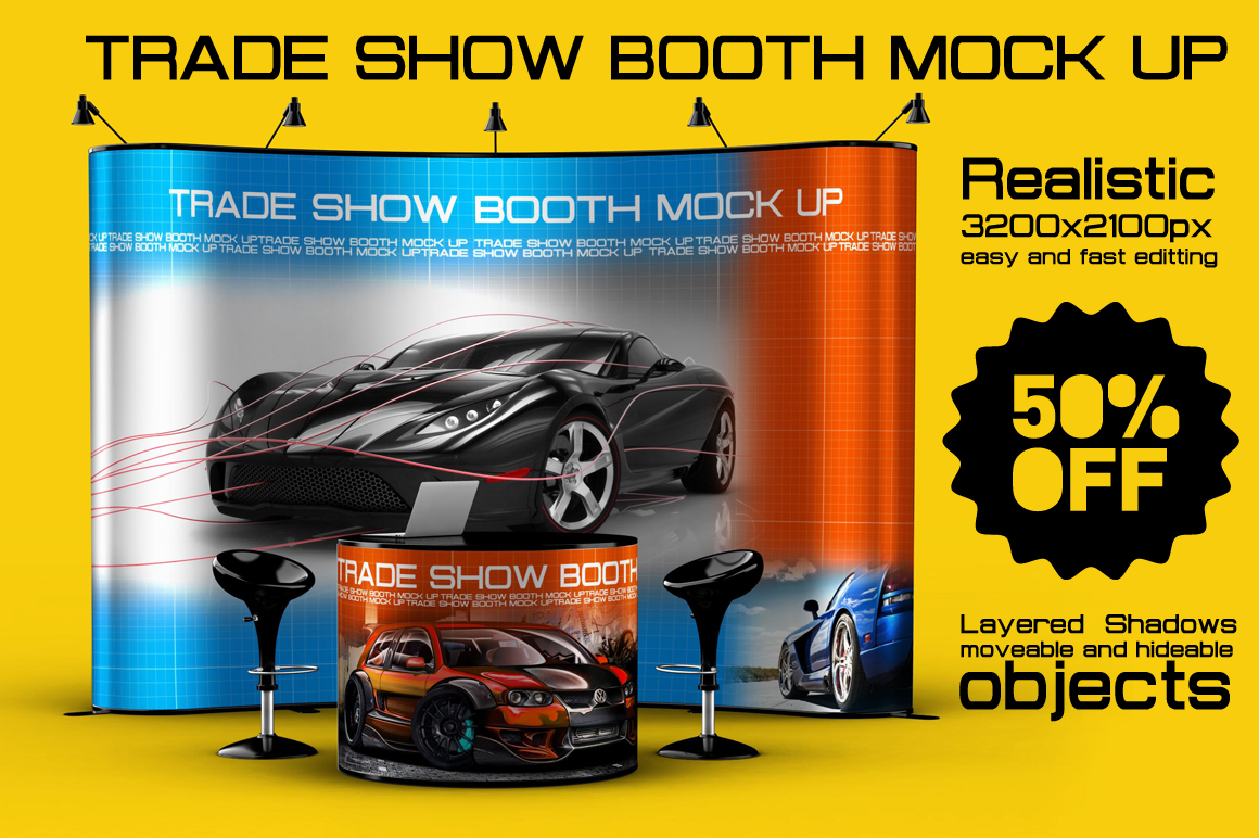 Exhibition Booth Mock Up : Trade show booth mock up product mockups on creative