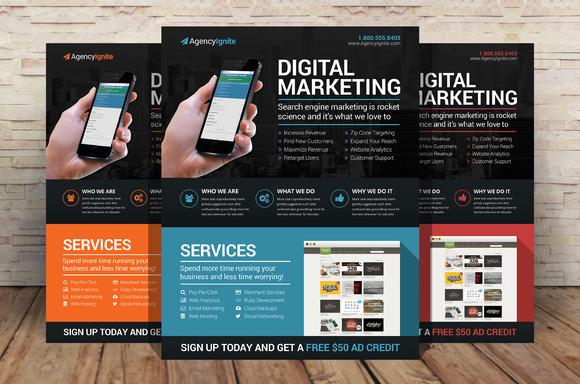 Digital Marketing Flyer Psd Flyer Templates On Creative