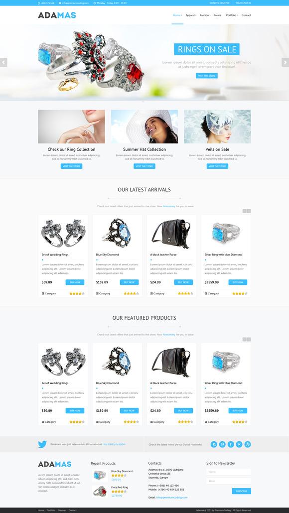 Adamas – Responsive WooCommerce Shop