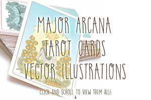 Major Arcana Tarot Card Set
