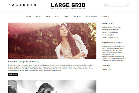 Large Grid Woocommerce Theme