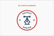 20 Simple Badges-Graphicriver中文最全的素材分享平台